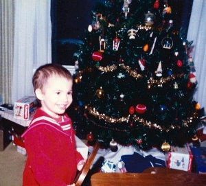 My Chris - Christmas 1982. So cute, right?
