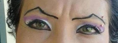 I think my son would say my eyebrows kind of look like these