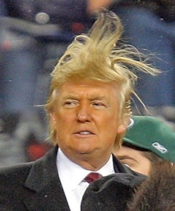How could anyone take a man seriously who thinks it's okay to wear his hair like this?