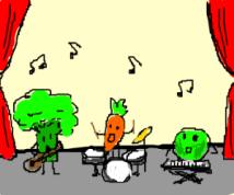 dancing vegies drawception