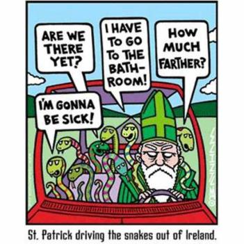 St. Patrick with snakes
