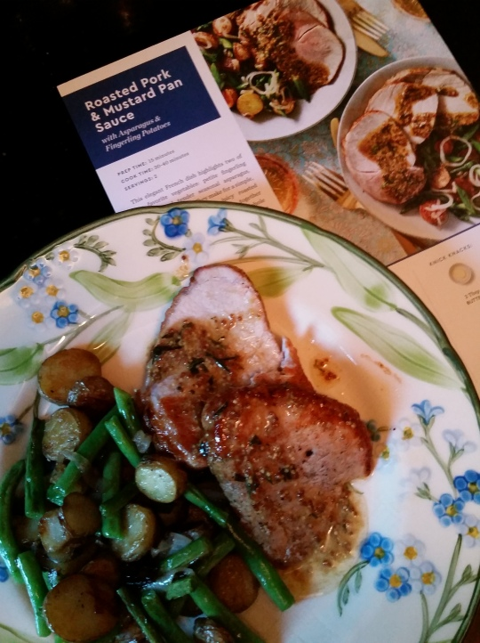 Blue Apron pork dinner