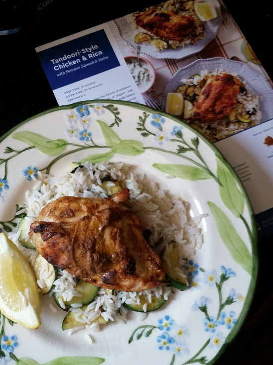 Blue Apron Tandoori dinner