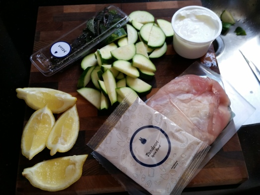 Blue Apron Tandoori ingredients