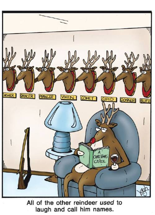 Rudolph and reindeer heads