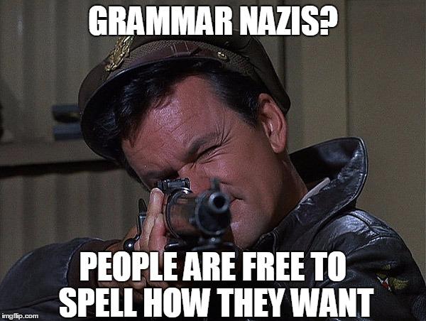 Grammar Nazi from Imgflip